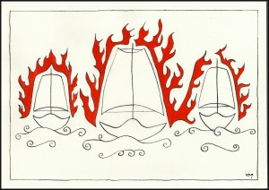 The White Ships are burning